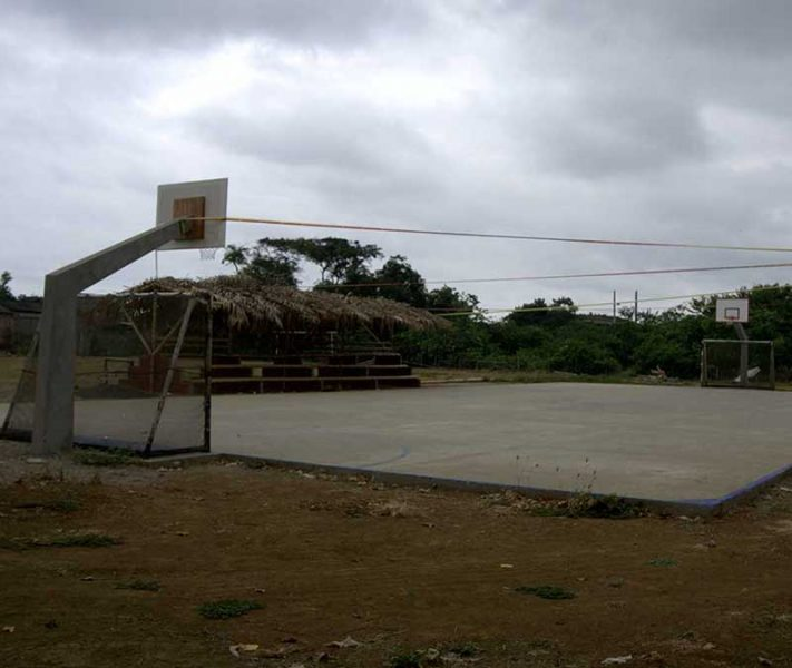 Soccer Field and Basketball Court in Ayampe Ecuador